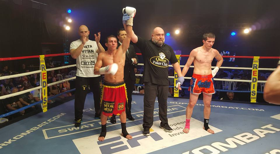 Cristian Spetcu defeated Turan Hasanov by TKO with one second before the final time